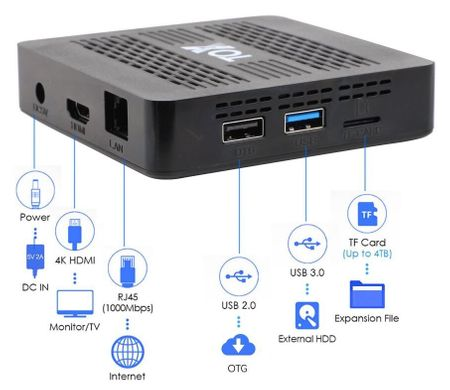 Ugoos TOX1 4K TV BOX 4/32, Amlogic S905X3, Android 9